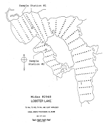 Map Grant Lakes Of Maine Lake Overview Lobster Lake East Middlesex
