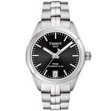tissot ladies bracelet watches images Tissot pr100 33mm black dial ladies automatic bracelet watch jpg
