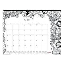 amazon com blueline 2017 monthly coloring desk pad calendar