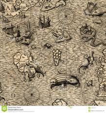 Old Map Old Map Of Northen Sea Stock Photography Image 11431112