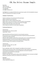 Resume Objective For Truck Driver Cdl Driver Resume Sample Truck Driver Resume Is One Of The Best