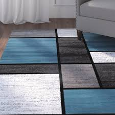 Gray Blue Area Rug Blue And Grey Area Rug Brilliant Visionexchange Co With Regard To