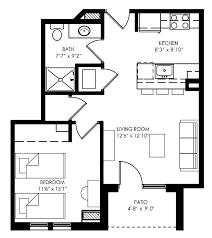 Waterfront Floor Plans Best Small 1 Bedroom Apartment Floor Plans With Y 1000x1120