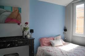 chambre bleu et mauve peinture gris bleu pour chambre idées de décoration capreol us