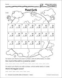 subtraction subtraction worksheets without regrouping for grade