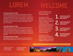 welcome brochure template flag of spain brochure template design and layout now