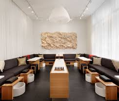 Banquette Salon Design by Milk Honey Spa Baldridgearchitects