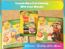 crayola mess free coloring with color wonder a review brooklyn