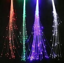 10 pack light up fiber optic led hair lights 14