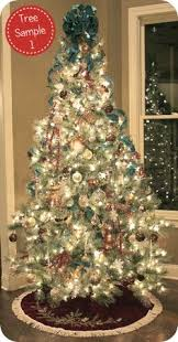 how to decorate a christmas tree i use ribbon instead of garland