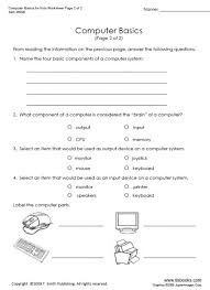 computer literacy worksheets worksheets
