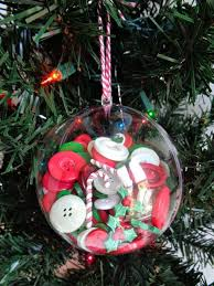 make diy button filled ornaments with the