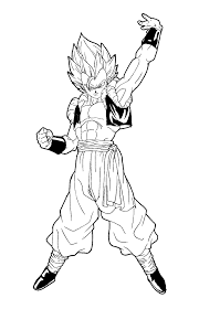 facile dragon ball gogeta super sayian coloriage dragon ball z