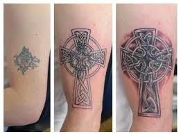 cross irish st tattoo
