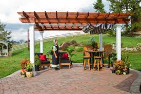 Pergola Designs With Roof by Surprising Outdoor Patio Pergola Roof Featuring Timber Roof