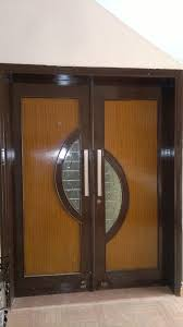exterior modern double door wood ideas