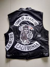 motorcycle jacket vest dropshipping usa sons of anarchy harley motorcycle embroidery