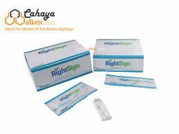 Alat Tes Malaria rapid test malaria pf pan device rightsign cahaya alkes