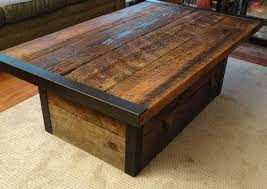 Rustic Distre Rustic Distressed Coffee Table Butcher Block Coffee Table Two Tone
