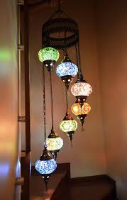 Mosaic Chandelier Turkish Chandelier Mix 7 Ball Arabian Mosaic Lamps Moroccan Lantern