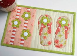 Flip Flop Rugs The Patchsmith One Block Mug Rugs