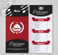 photoshop menu template 50 free restaurant menu templates food flyers covers psd vector