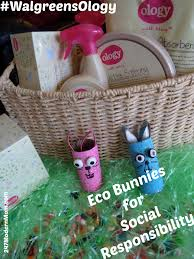 teach kids about social responsibility eco bunny craft for all