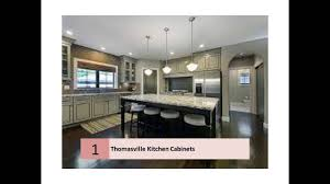 furniture white thomasville cabinets with oven and fridge on