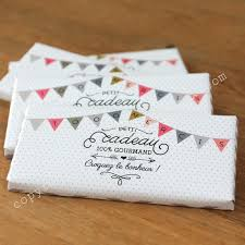 cadeau de mariage personnalis chocolat personnalisé la mini tablette bio à 2 85
