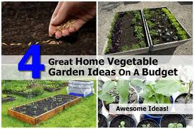 Home Vegetable Garden Ideas 4 Great Home Vegetable Garden Ideas On A Budget