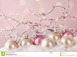 white and pink ornaments stock photo image 46444974