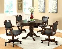 dining table with caster chairs chairs on casters for dining table kitchen caster chairs kitchen
