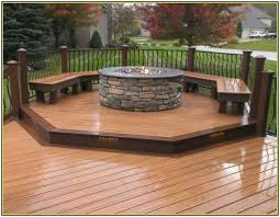 Wood Firepits Gas Pit On Wood Deck Outdoor Decking Decor Deck Ideas