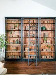 free standing bookshelves anonymous teak and enameled metal string