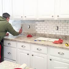 install tile backsplash kitchen how to install a kitchen backsplash the best and easiest tutorial