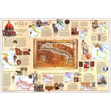 Renaissance Italy Map by 1995 Historical Italy Map National Geographic Store