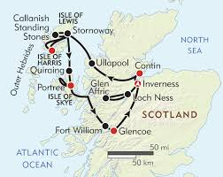 Map Scotland Highlands And Islands Of Scotland Itinerary U0026 Map Wilderness