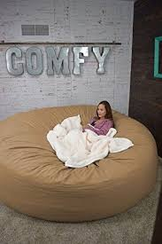 bean bag bed 8 foot xtreem oversized bean bag chair in twill tan