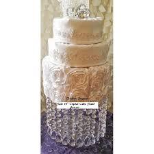 wedding cake stand with crystals chandelier acrylic wedding cake