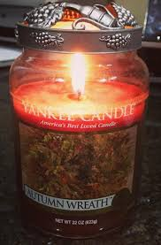 yankee autumn wreath candle review candle frenzy