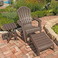 Adirondack Chair With Ottoman Outdoor Patio Furniture Resin Stacking Adirondack Ottoman