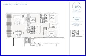 three bedroom apartment floor plans neo north lakes apartments