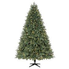 slim christmas tree with led colored lights home accents holiday 7 5 ft pre lit led harrison quick set
