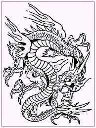 dragon coloring pages chinese printable cute free simple faces