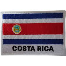Flag Costa Rica Costa Rica Flag Embroidered Patch Iron On Or Sew On Flag