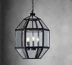 spencer faceted indoor outdoor lantern pottery barn