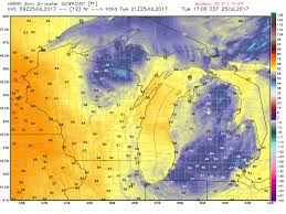Us Dewpoint Map Michigan Weather Today Let U0027s Rate It A 10 Mlive Com