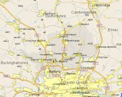 map of st albans st albans map and road maps of hertfordshire uk