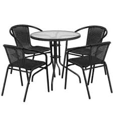 Glass Patio Table And Chairs Glass Patio Furniture Outdoor Seating Dining For Less