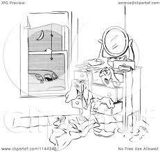 cartoon car black and white cartoon of a black and white man franticaly searching his dresser